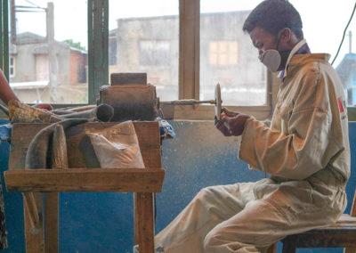 Antsirabe - artisan, cornes de zébu