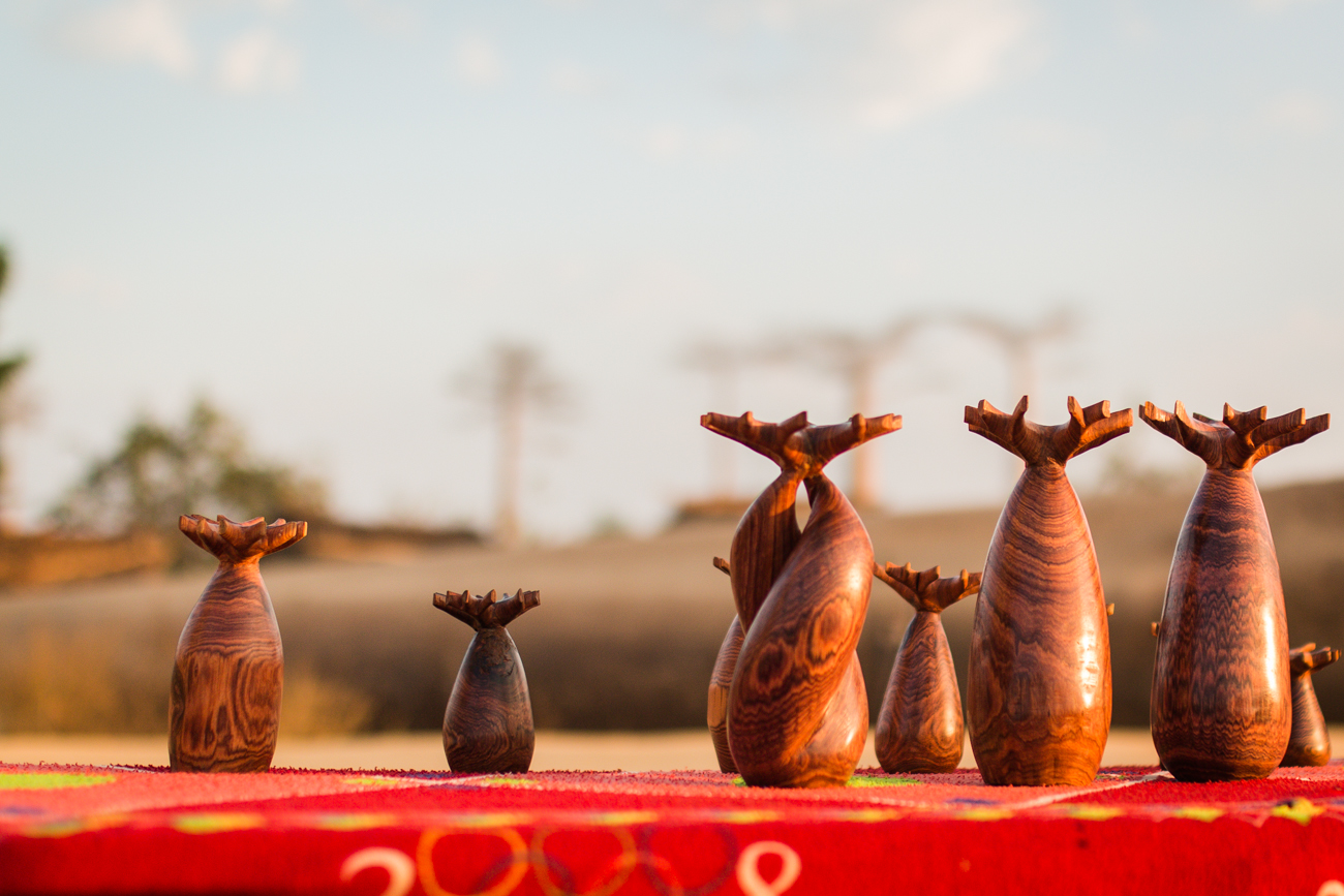 Madagascar - Morondava, allée des baobabs